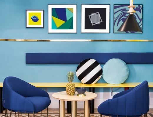 estilo Nuevo Memphis - por Masquespacio (Valencia Lounge Hostel)