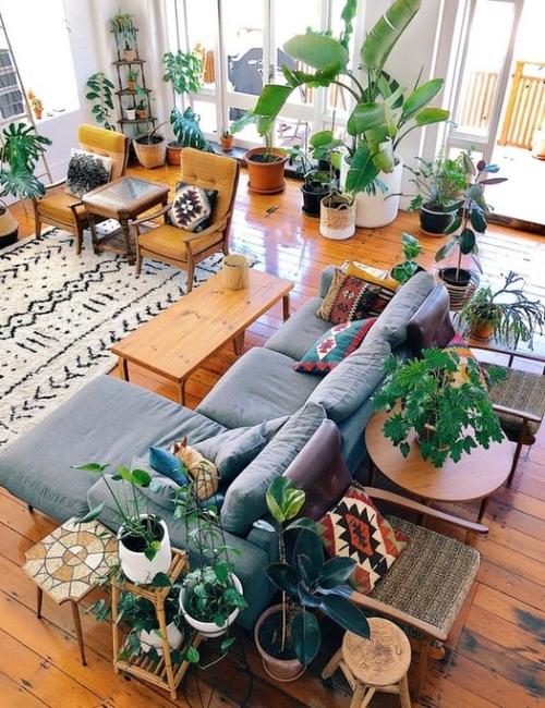 Plantas en el interior - vía Apartment Therary (vivienda en Nueva Zelanda)