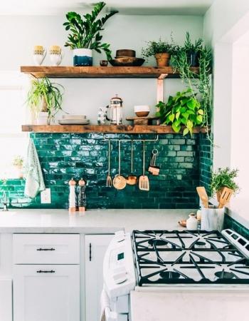 Plantas en la cocina_via vintageandchicblog.com