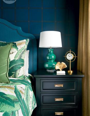 Azules y Verdes potentes - vía styleathome.com con foto de Alex Lukey