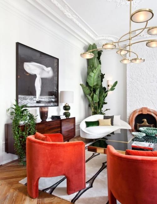 Plantas incluso en ambientes sofisticados - de Beatriz Silveira para la Embajada de Portugal en Casa Decor'18
