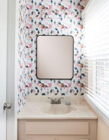 el 'DESPUÉS' de un baño_por Diana Paulson para apartmenttherapy.com