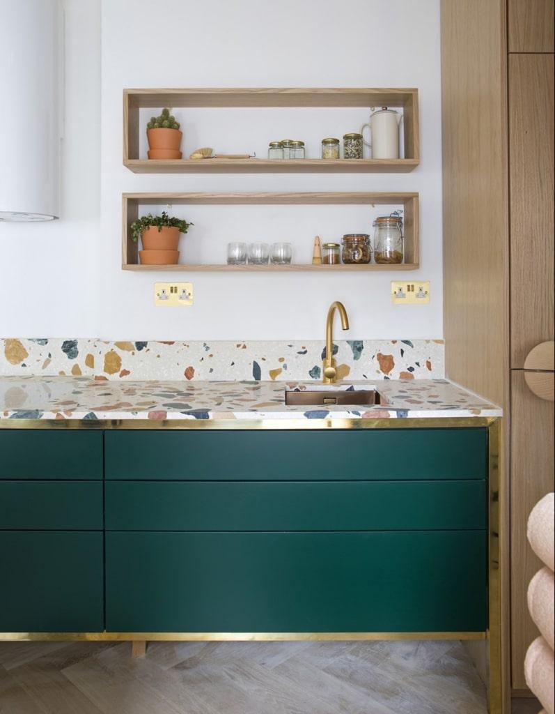 Cocinas con estrella y terrazo - vía dzekdzekdzek.com